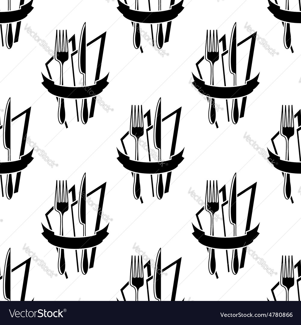 Seamless pattern of forks and knives vector | Price: 1 Credit (USD $1)