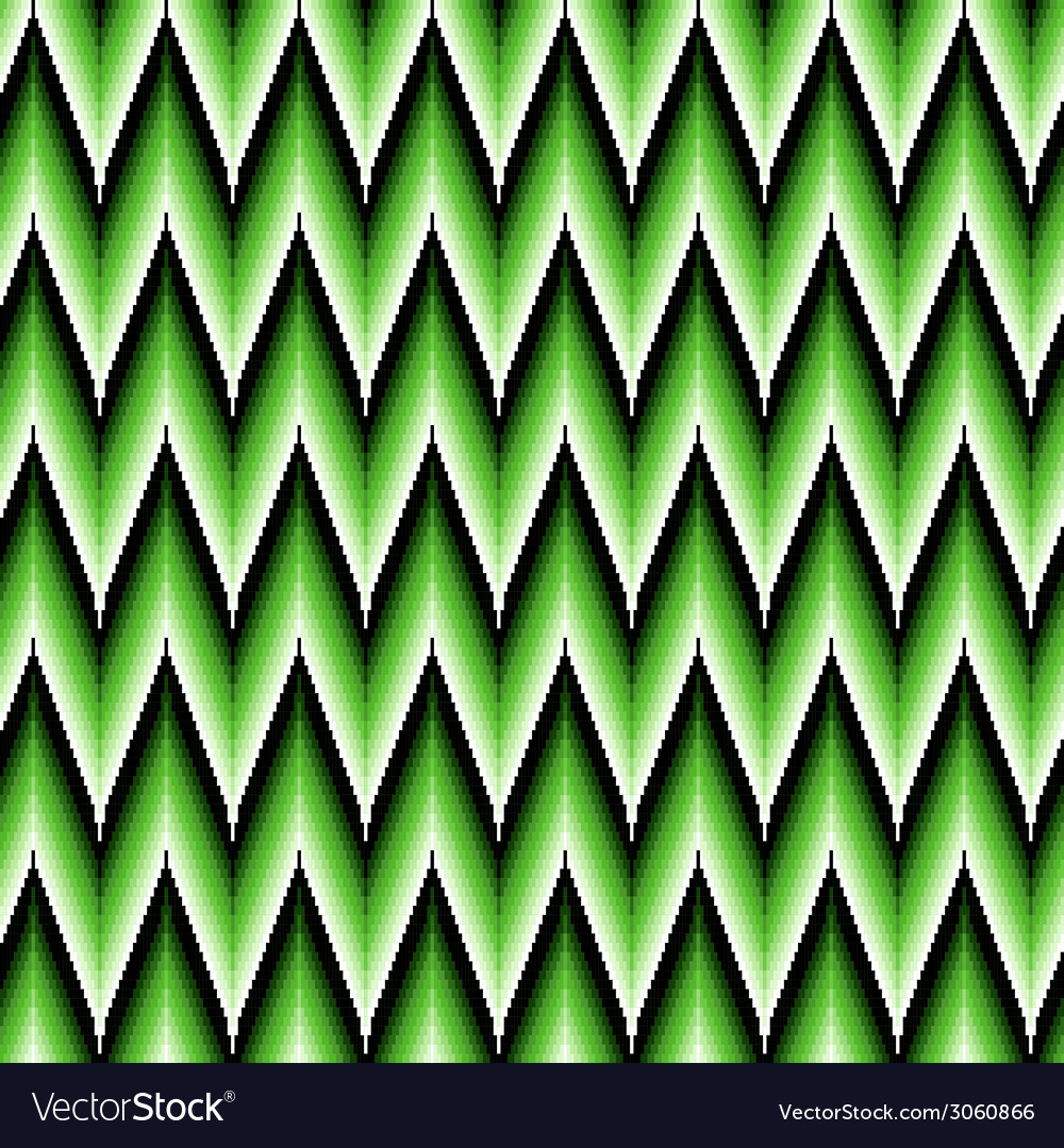 Seamless pattern with green zigzag elements vector | Price: 1 Credit (USD $1)
