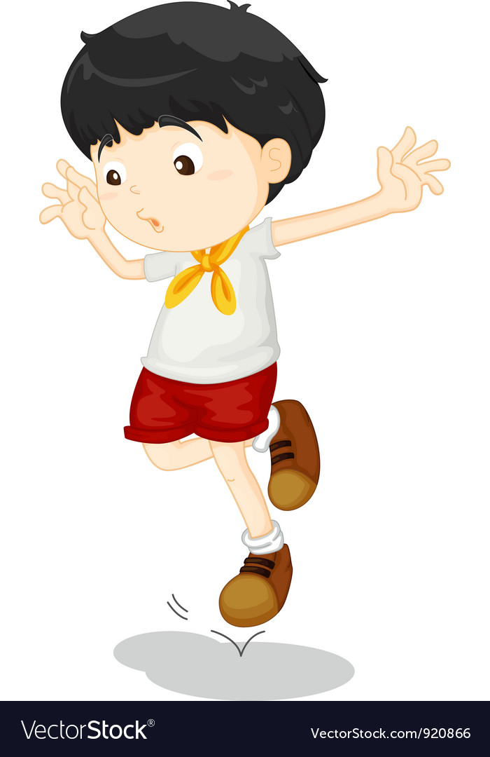 Small child jumping vector   Price: 3 Credit (USD $3)