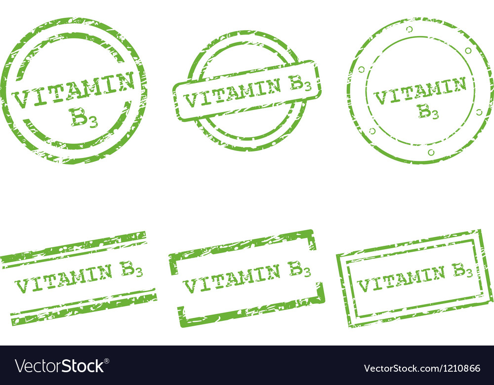 Vitamin b3 stamps vector | Price: 1 Credit (USD $1)