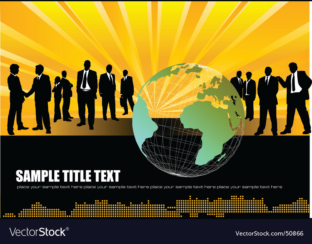 World business background vector | Price: 1 Credit (USD $1)