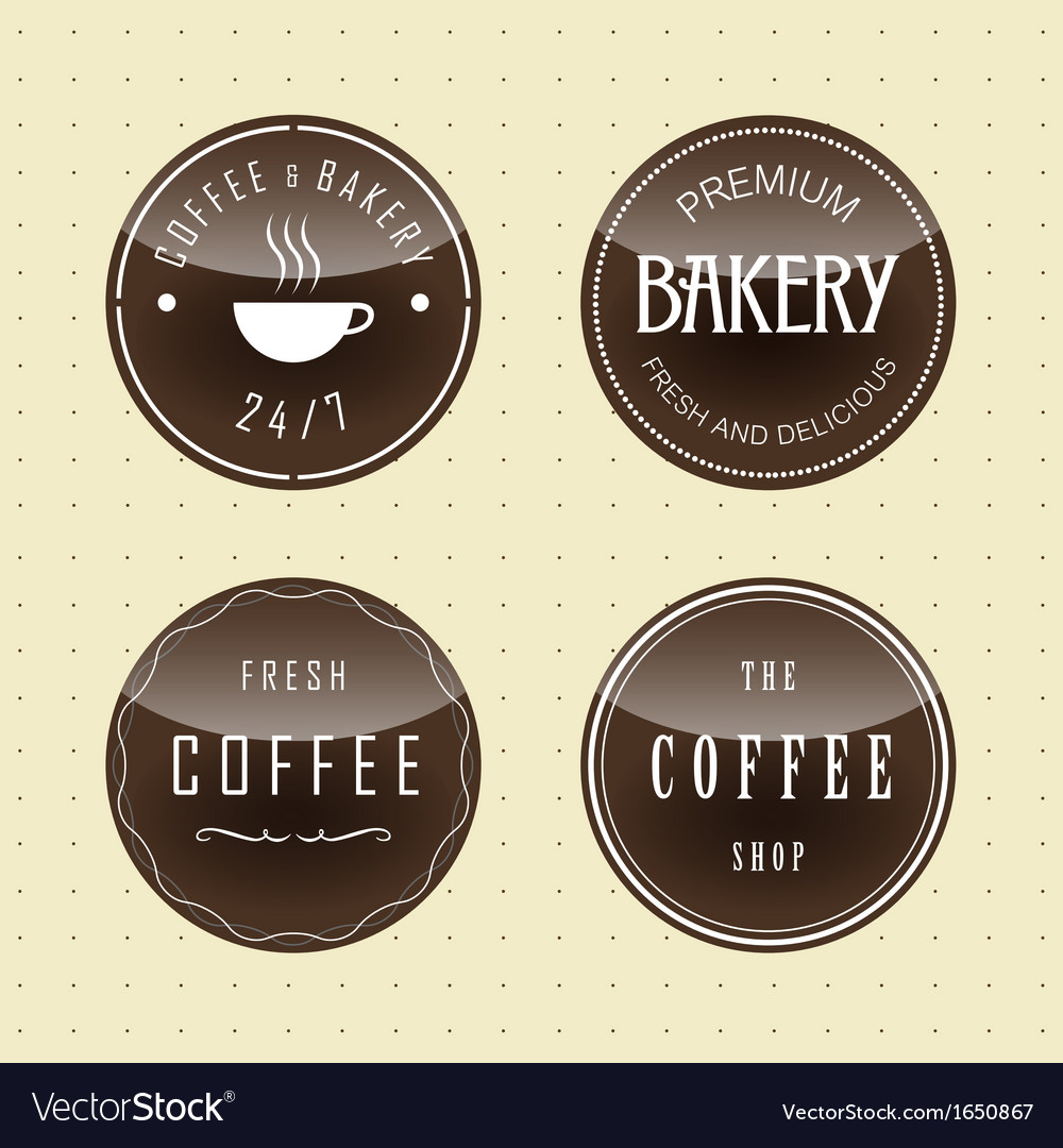 Badge design for coffee and bake vector | Price: 1 Credit (USD $1)