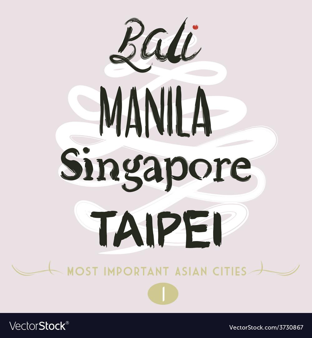 Bali manila taipei vector | Price: 1 Credit (USD $1)
