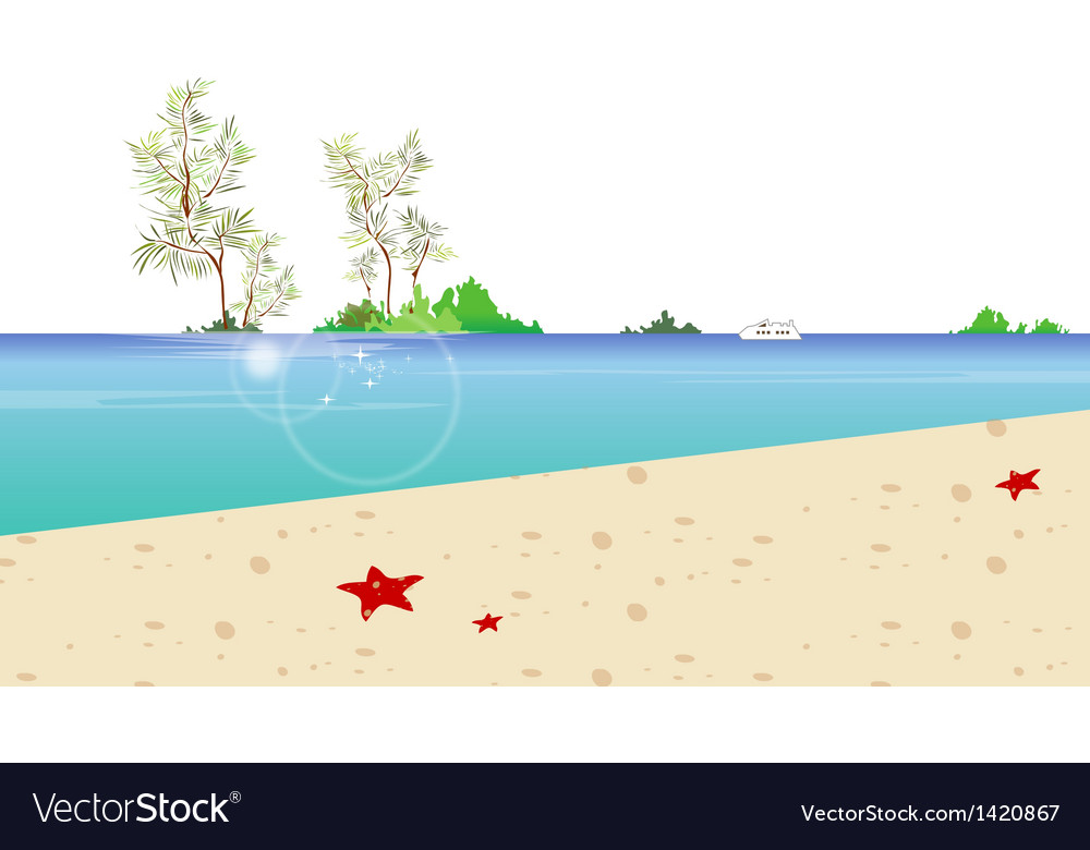 Beach coast background vector | Price: 1 Credit (USD $1)