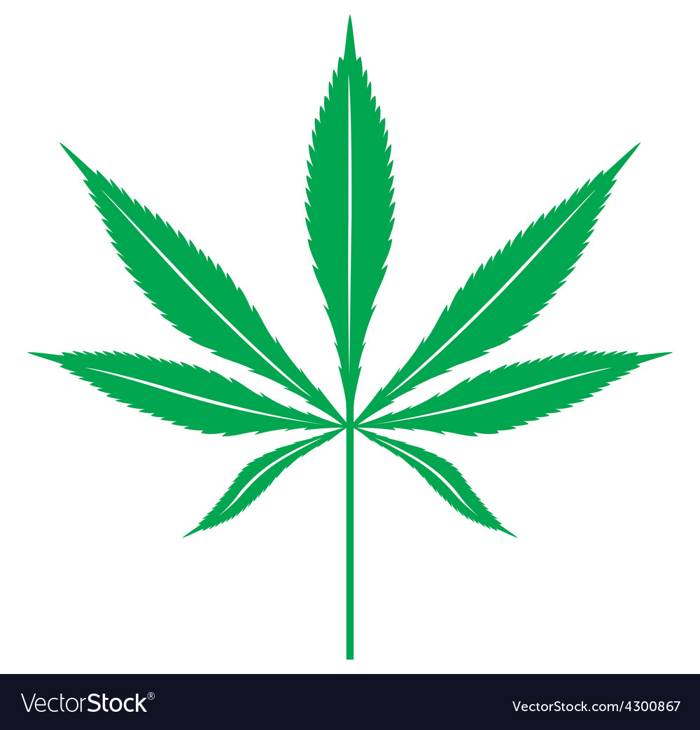 Cannabis leaf1 resize vector | Price: 1 Credit (USD $1)