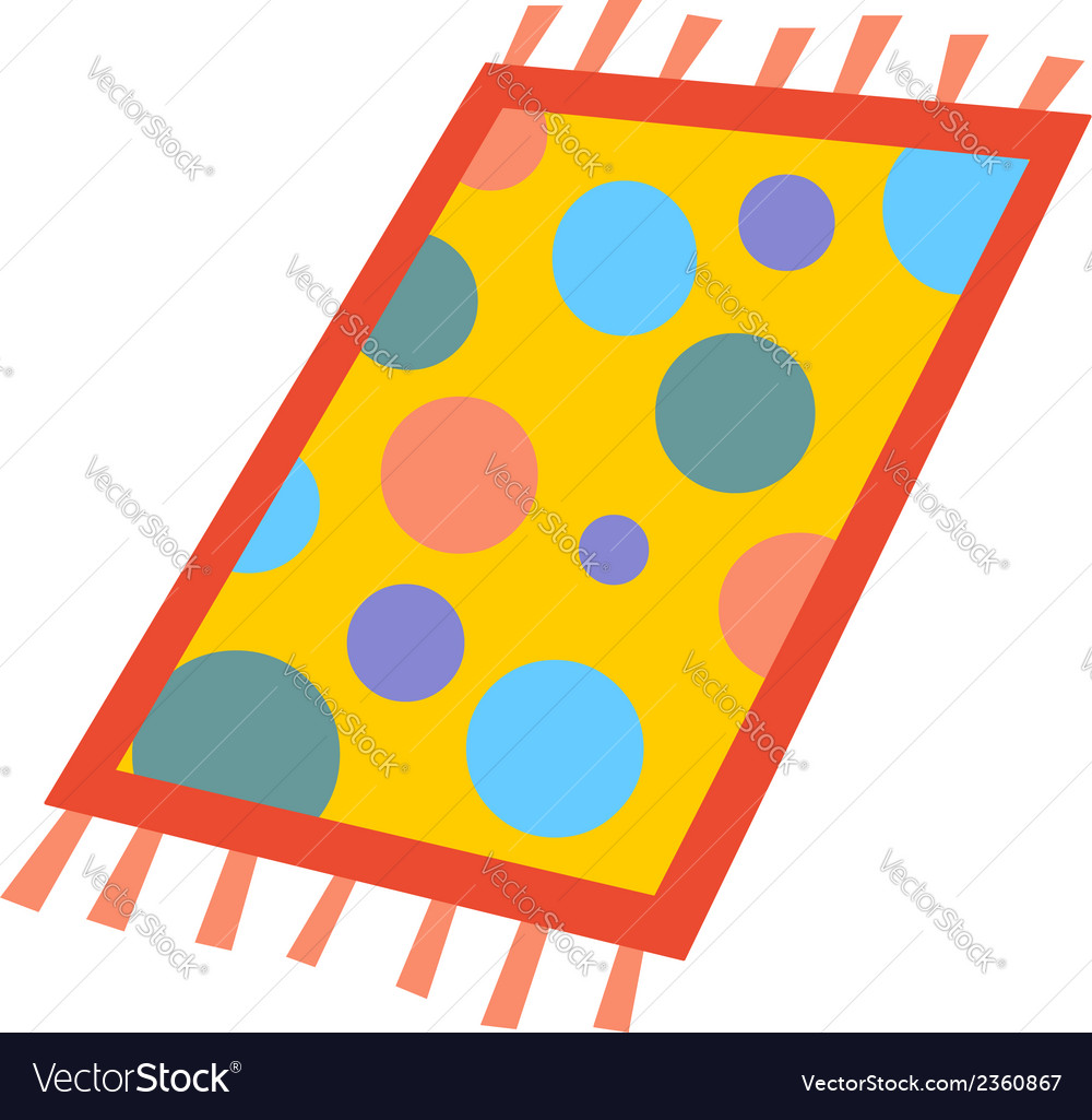 Cartoon rug vector | Price: 1 Credit (USD $1)