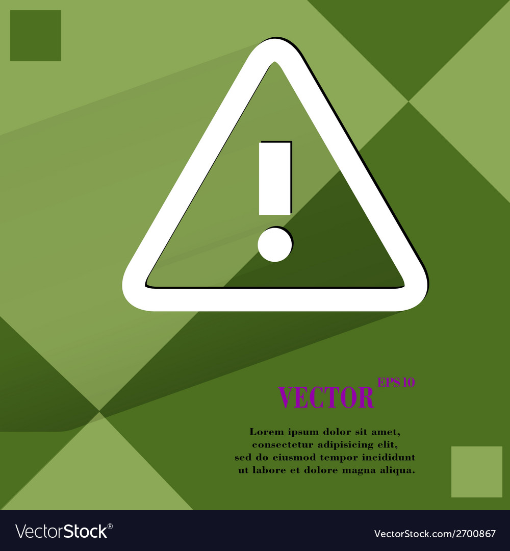 Danger exclamation mark flat modern web design on vector | Price: 1 Credit (USD $1)