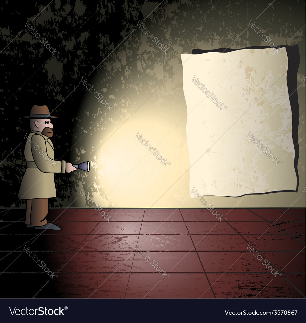 Detective in the grungy room vector | Price: 1 Credit (USD $1)