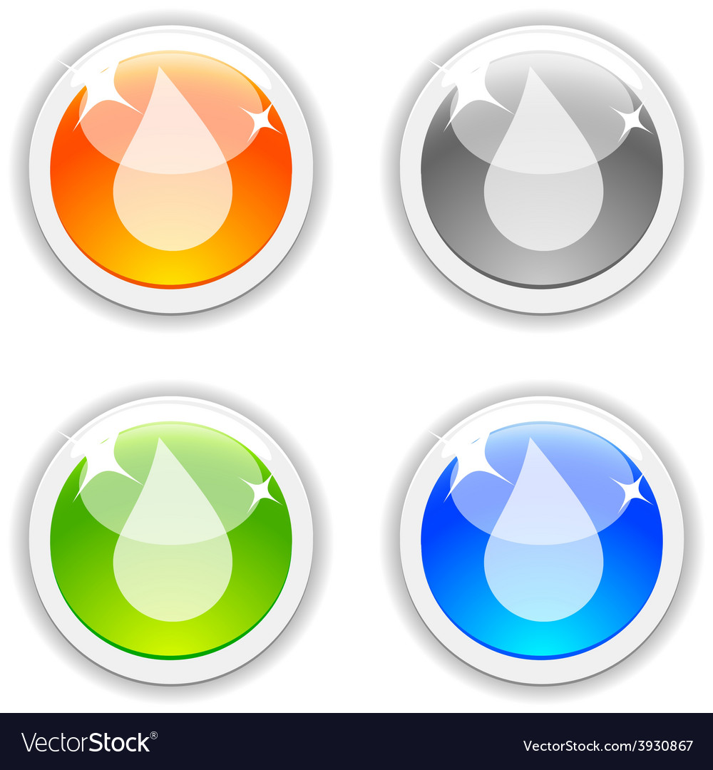 Drop buttons vector | Price: 1 Credit (USD $1)