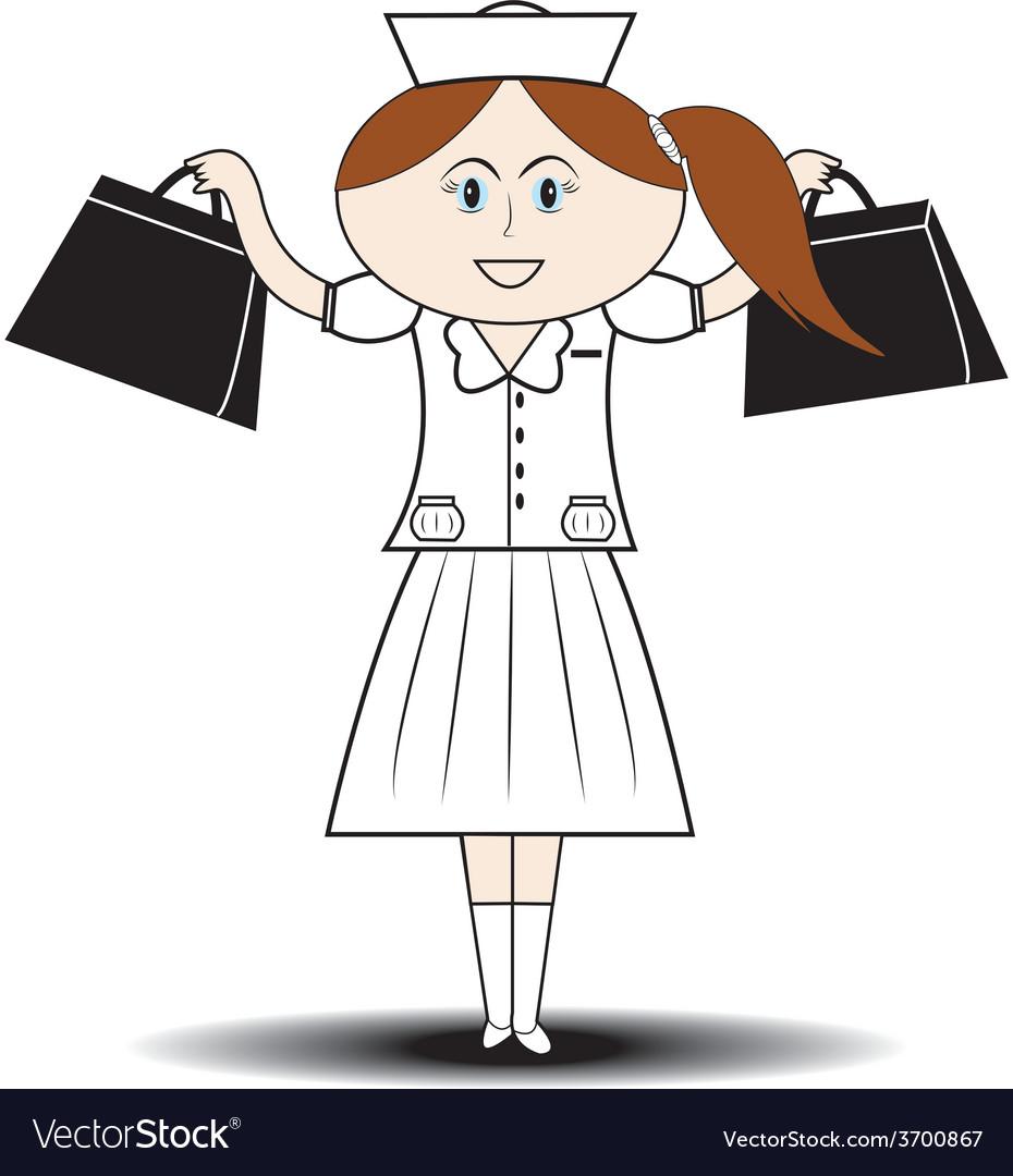 First aid nurse handbag vector   Price: 1 Credit (USD $1)