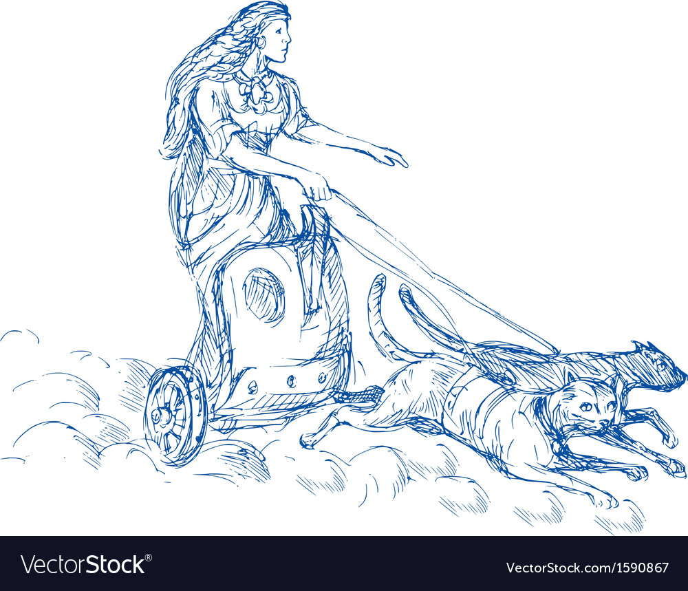 Freya norse goddess of love and beauty vector | Price: 1 Credit (USD $1)