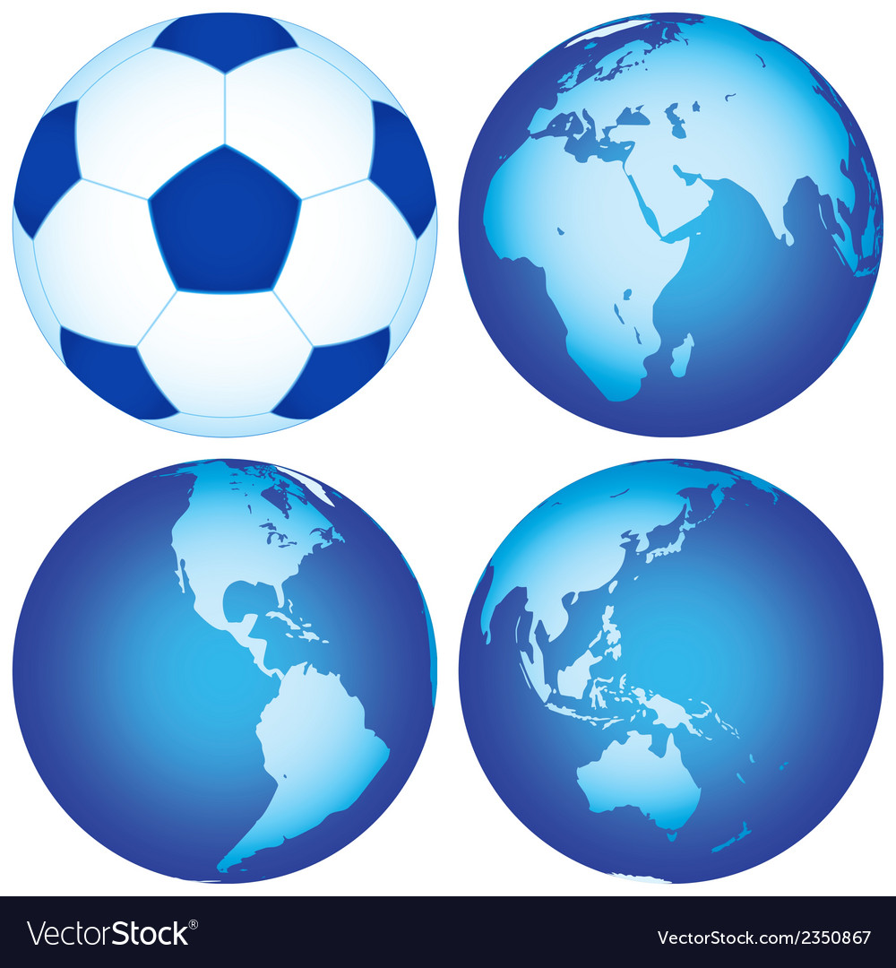 Globes and ball vector | Price: 1 Credit (USD $1)