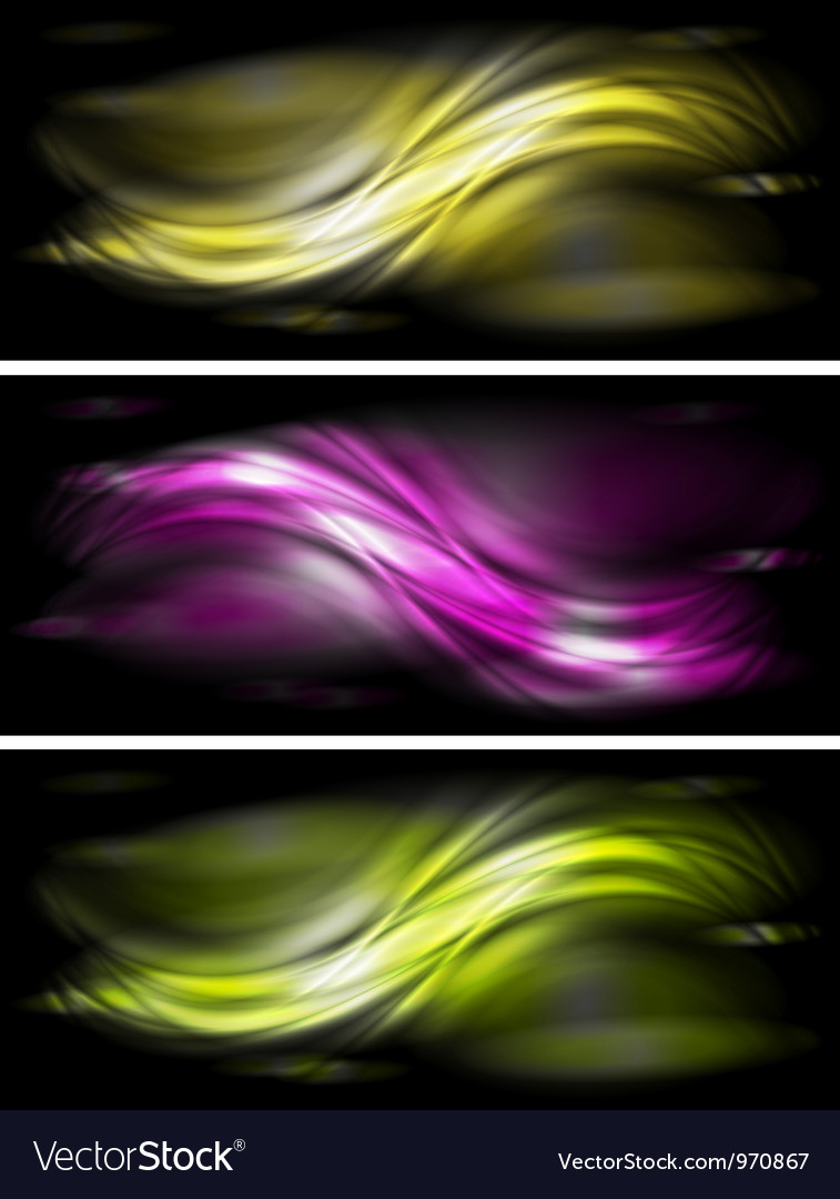 Glowing banners vector | Price: 1 Credit (USD $1)