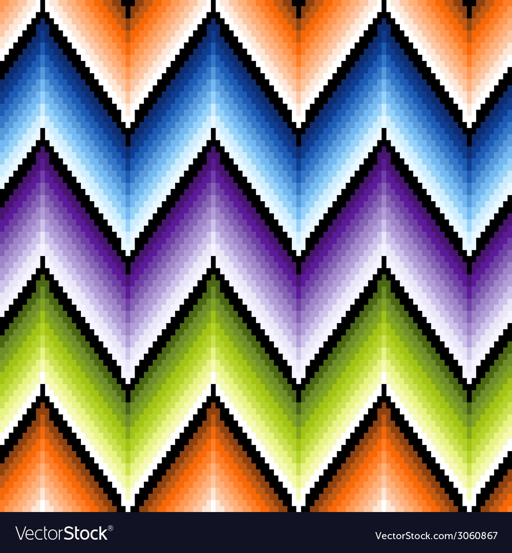 Seamless pattern with several colors zigzag vector | Price: 1 Credit (USD $1)