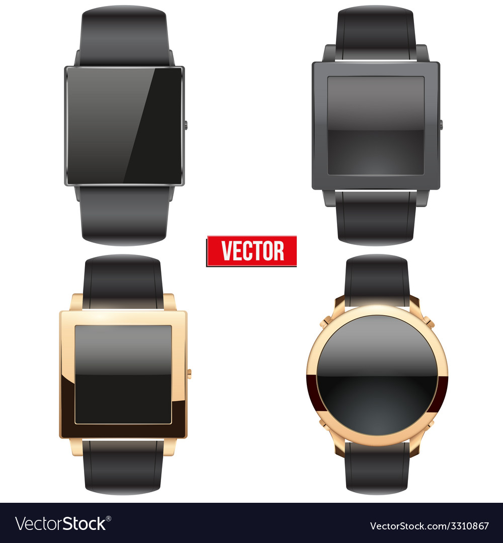 Set of original smart design example wrist watch vector | Price: 3 Credit (USD $3)