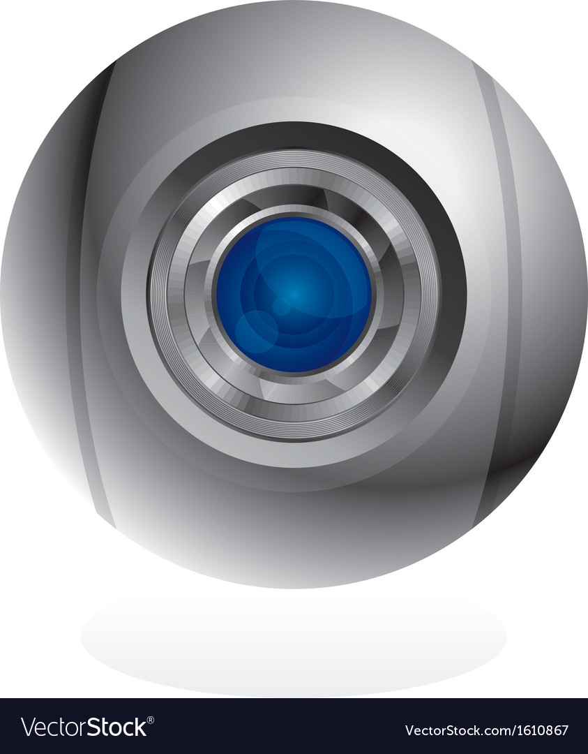 Sphere web cam vector | Price: 1 Credit (USD $1)