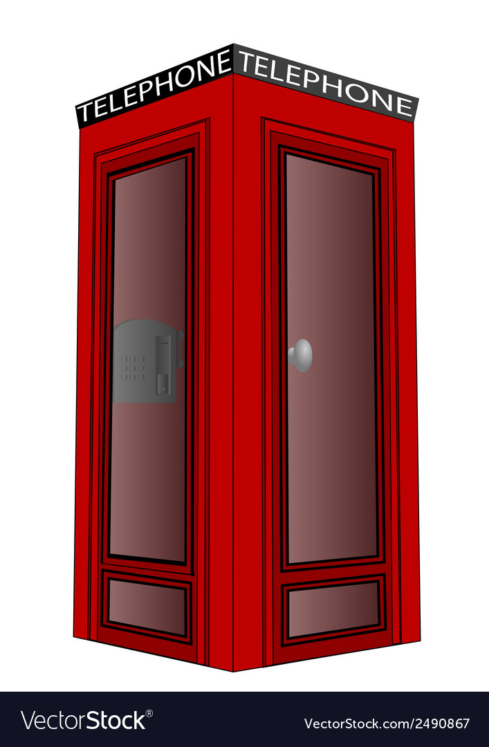 Telephone box vector | Price: 1 Credit (USD $1)