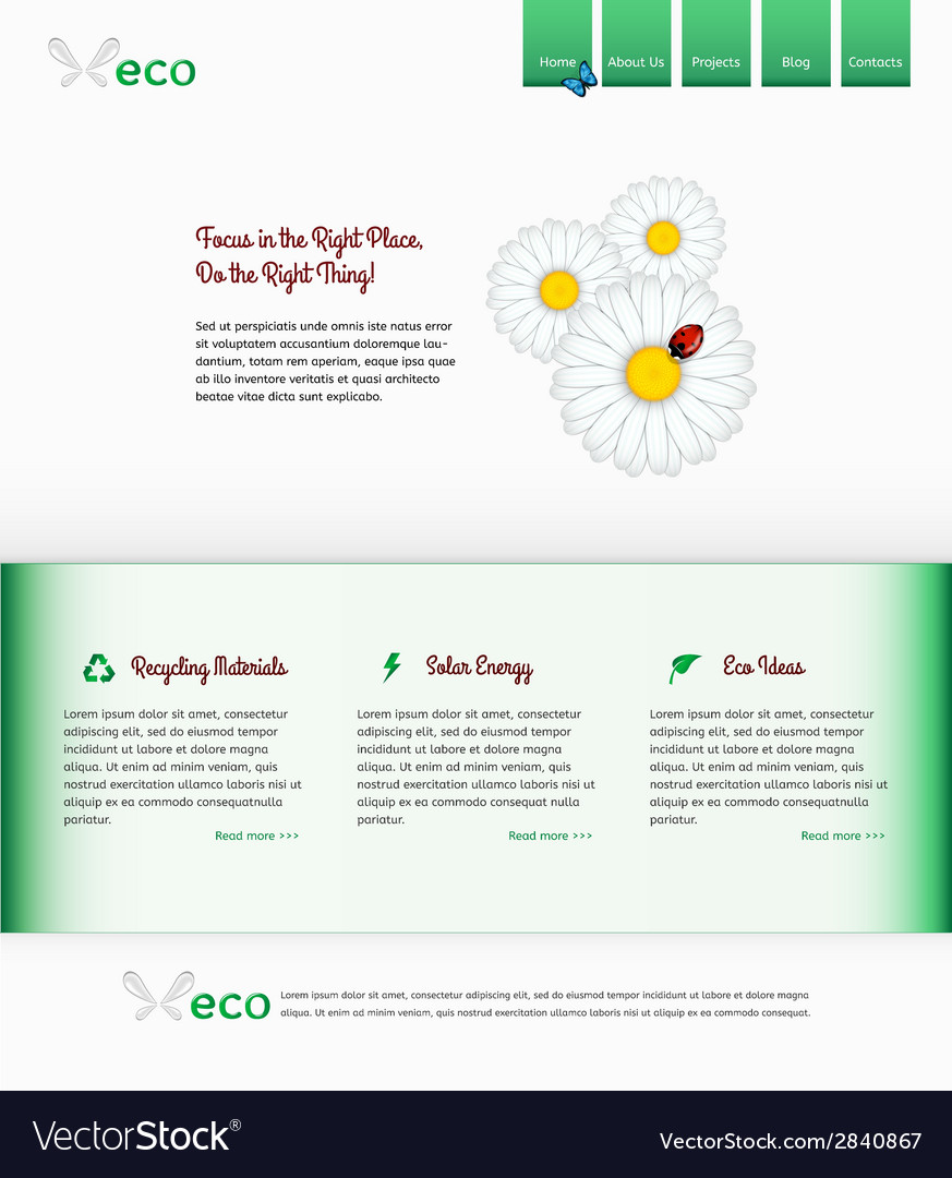 Template of the green site vector | Price: 1 Credit (USD $1)