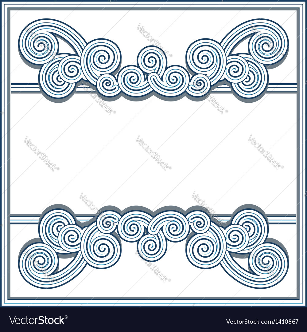 Wavy swirl frame vector | Price: 1 Credit (USD $1)