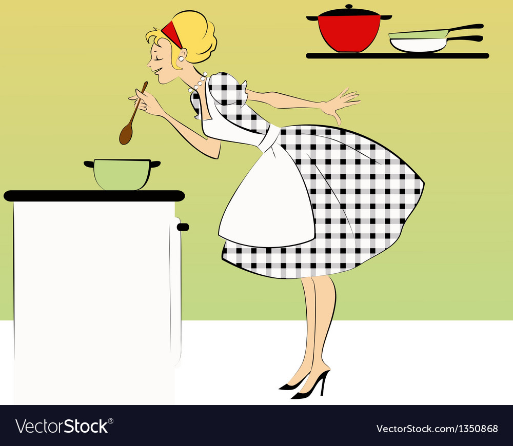Cooking dinner vector | Price: 3 Credit (USD $3)