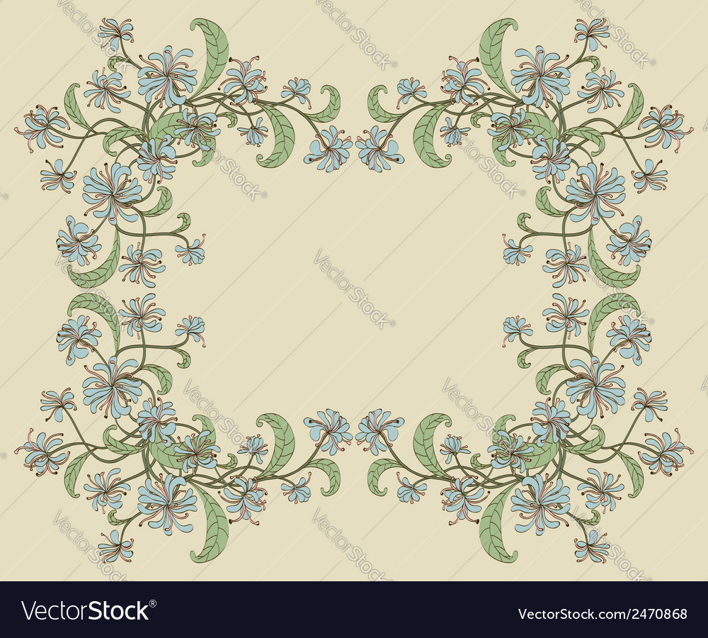 Decorative floral frame vector | Price: 1 Credit (USD $1)