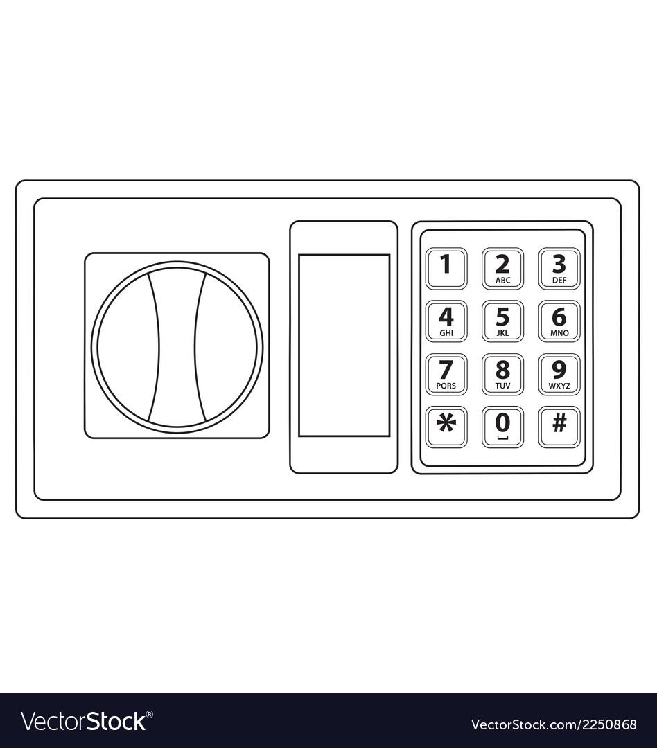 Electronic keypad vector | Price: 1 Credit (USD $1)