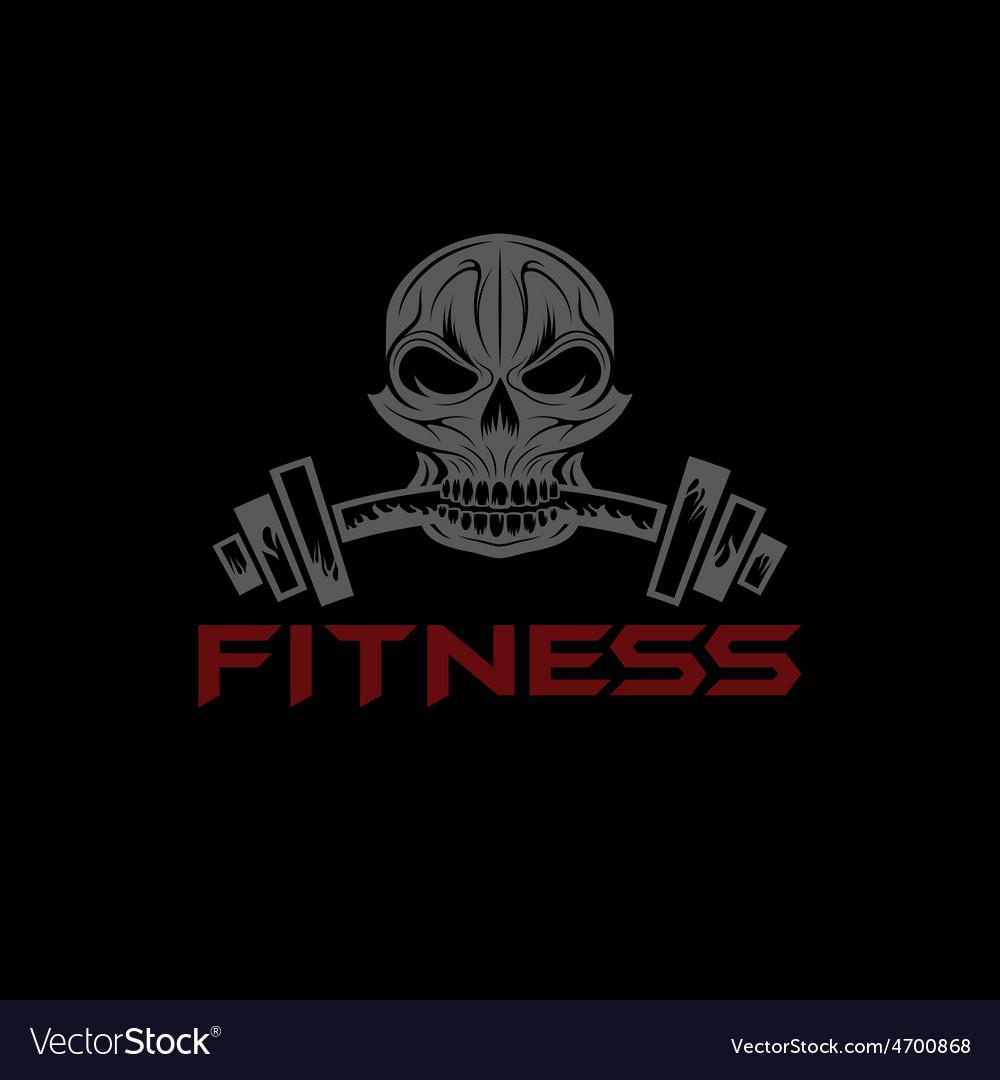 Fitness skull vector | Price: 1 Credit (USD $1)