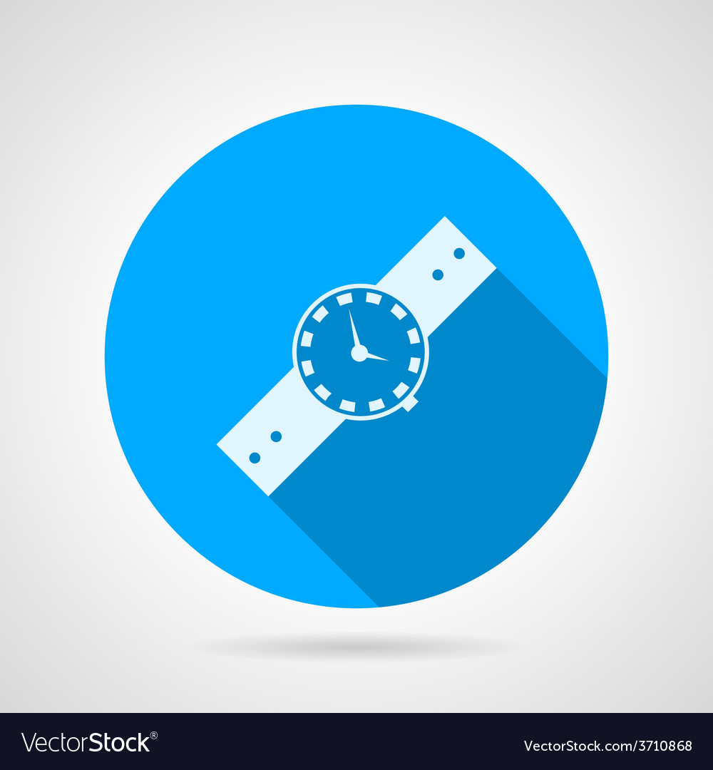 Flat icon for watch vector | Price: 1 Credit (USD $1)