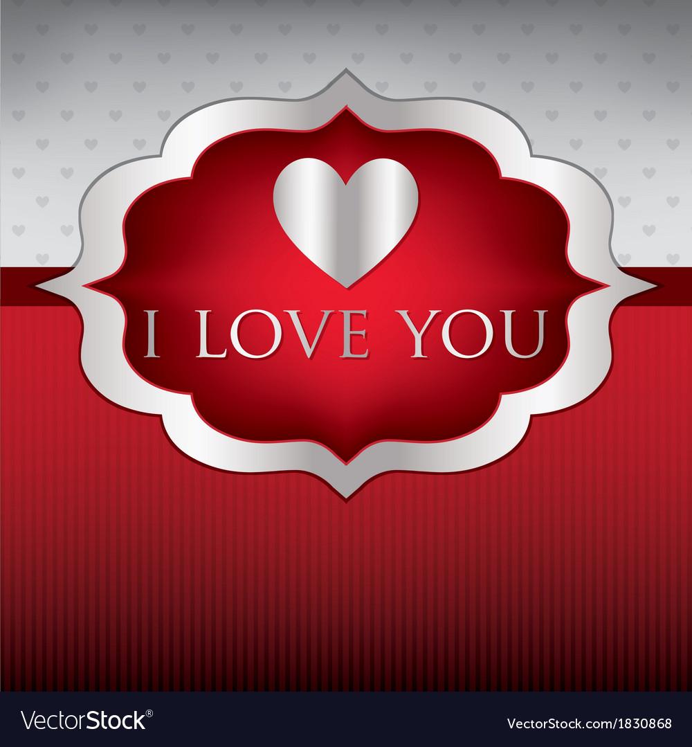 Label love heart cardinvitation in format vector | Price: 1 Credit (USD $1)