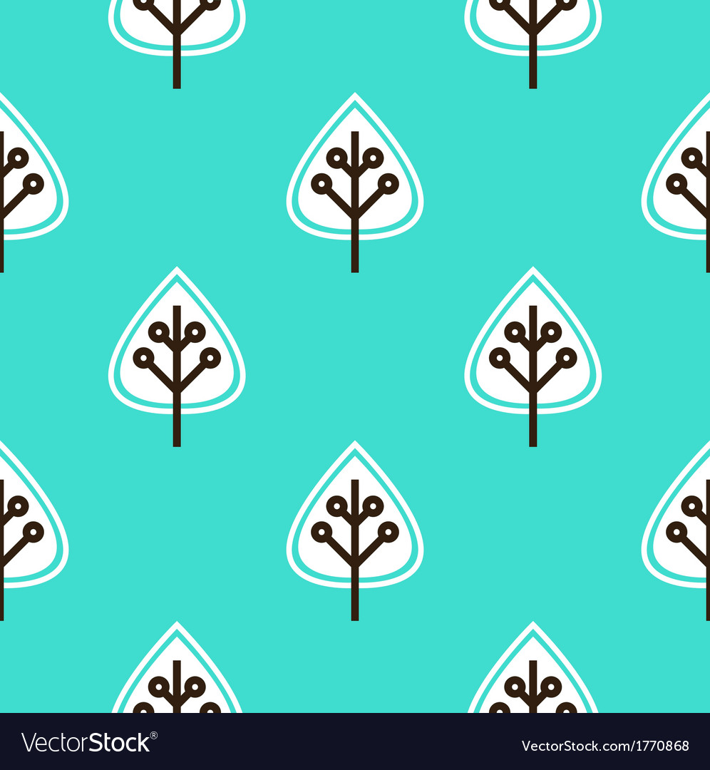 Leaves seamless pattern - blue vector | Price: 1 Credit (USD $1)