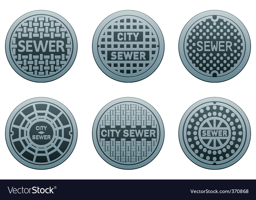 Manhole covers vector | Price: 1 Credit (USD $1)