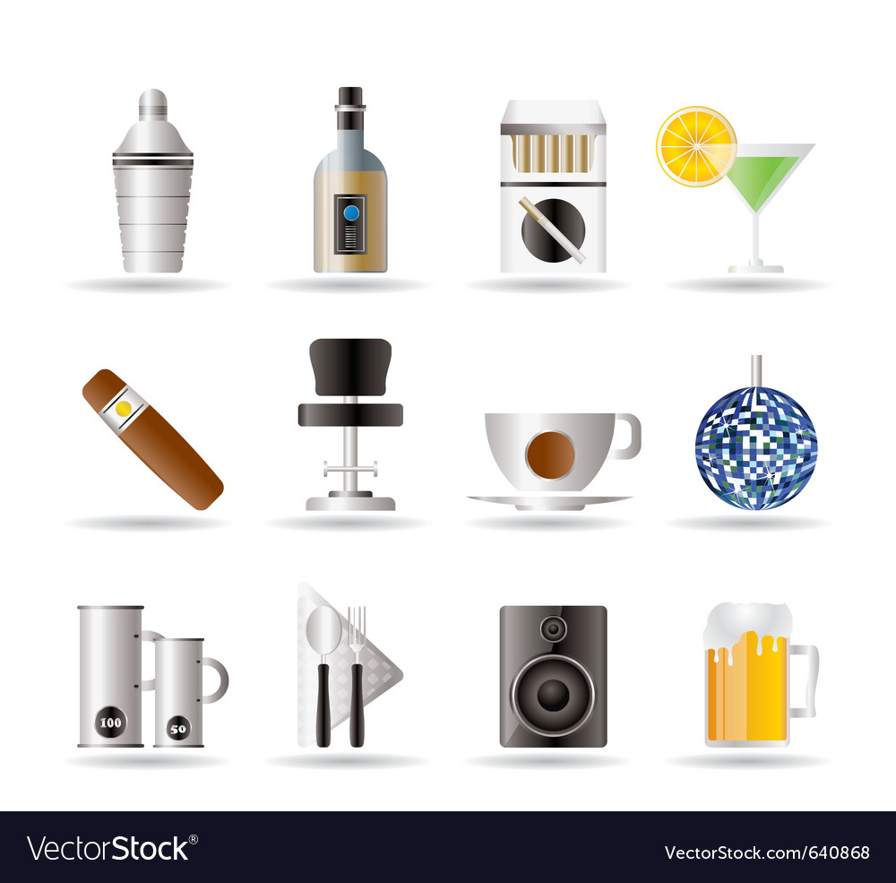 Night club and bar cons vector | Price: 1 Credit (USD $1)
