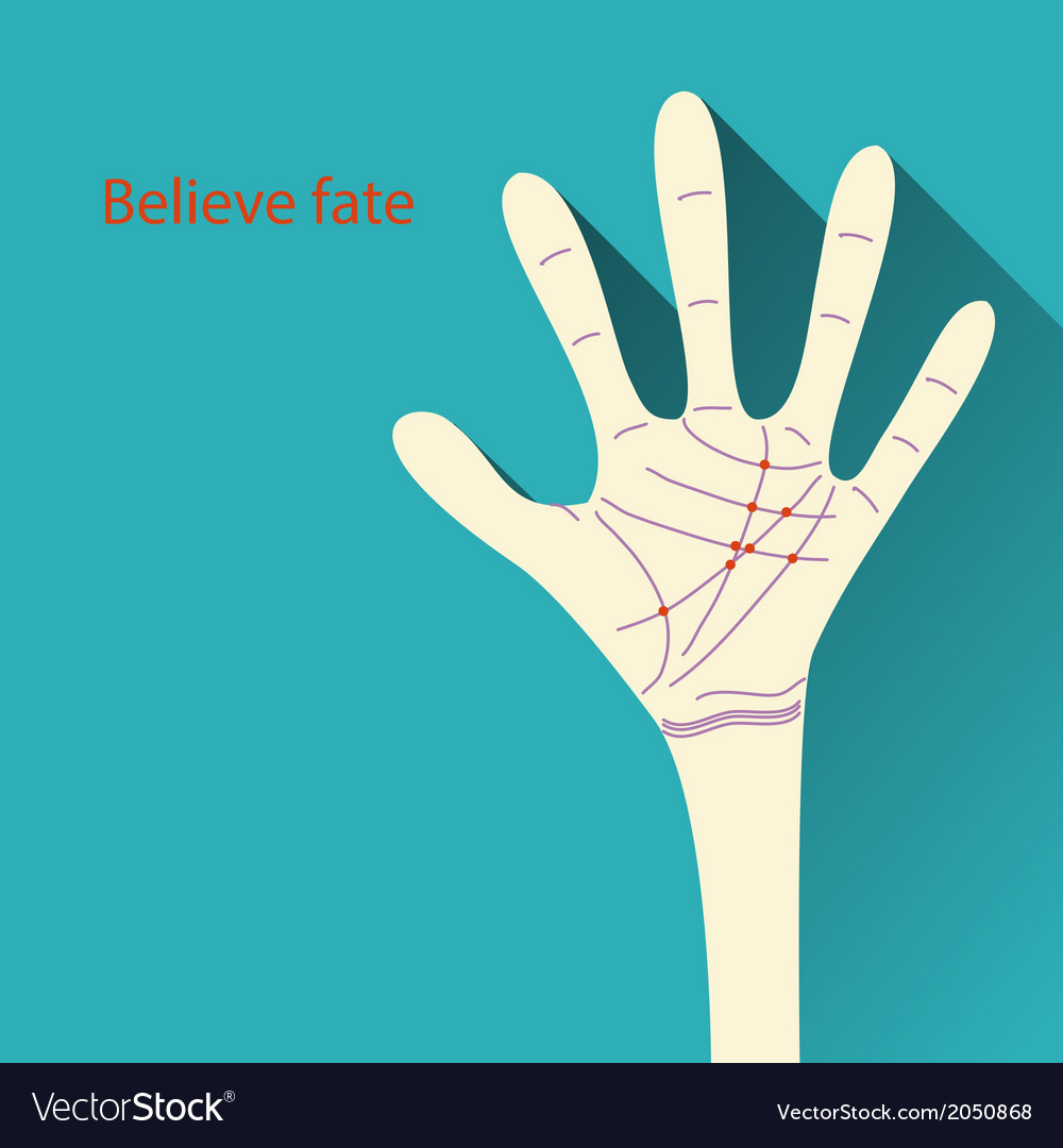 Palmistry map on open palm on abstract background vector | Price: 1 Credit (USD $1)