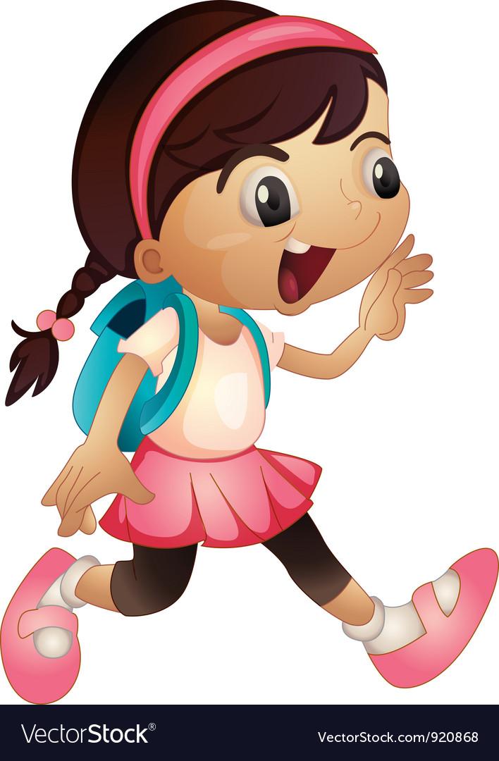 Schoolgirl vector | Price: 3 Credit (USD $3)