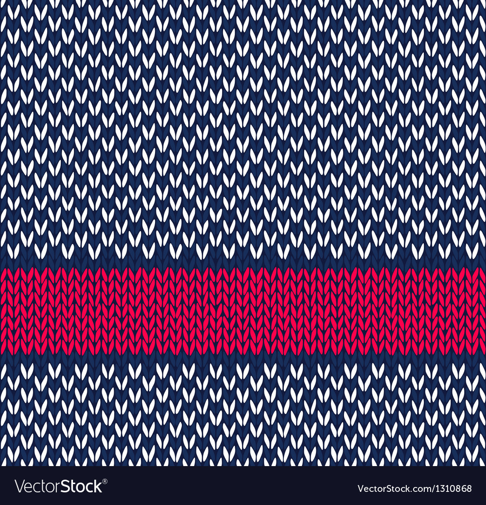 Seamless marine color knitted pattern vector | Price: 1 Credit (USD $1)