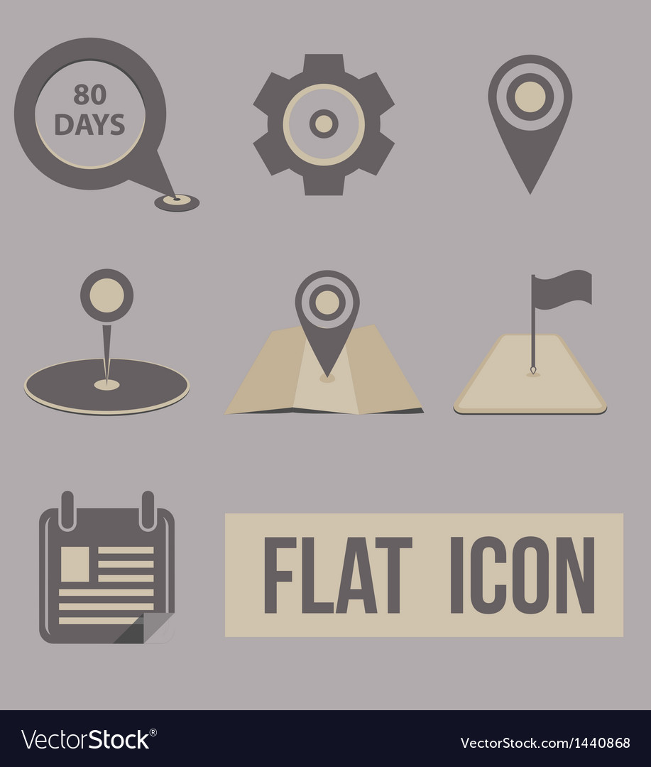 Set icons modes of transport navigation vector | Price: 1 Credit (USD $1)