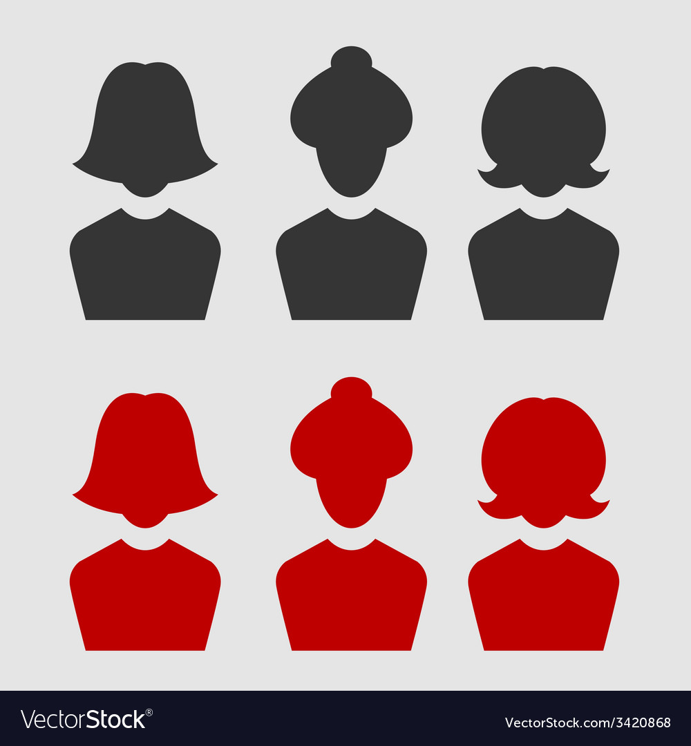 Woman business avatar set vector | Price: 1 Credit (USD $1)