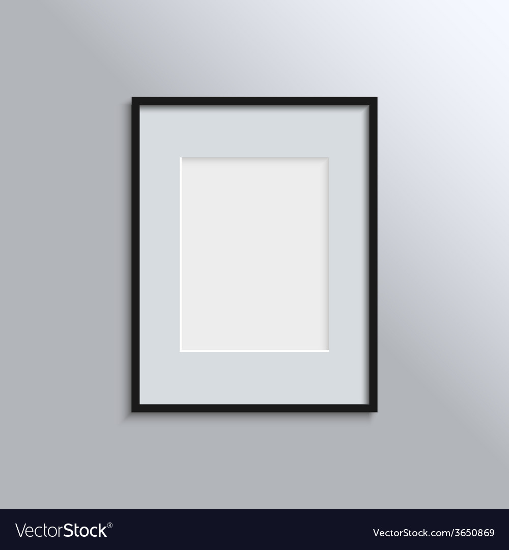 Black frame on a wall background design for your vector | Price: 1 Credit (USD $1)