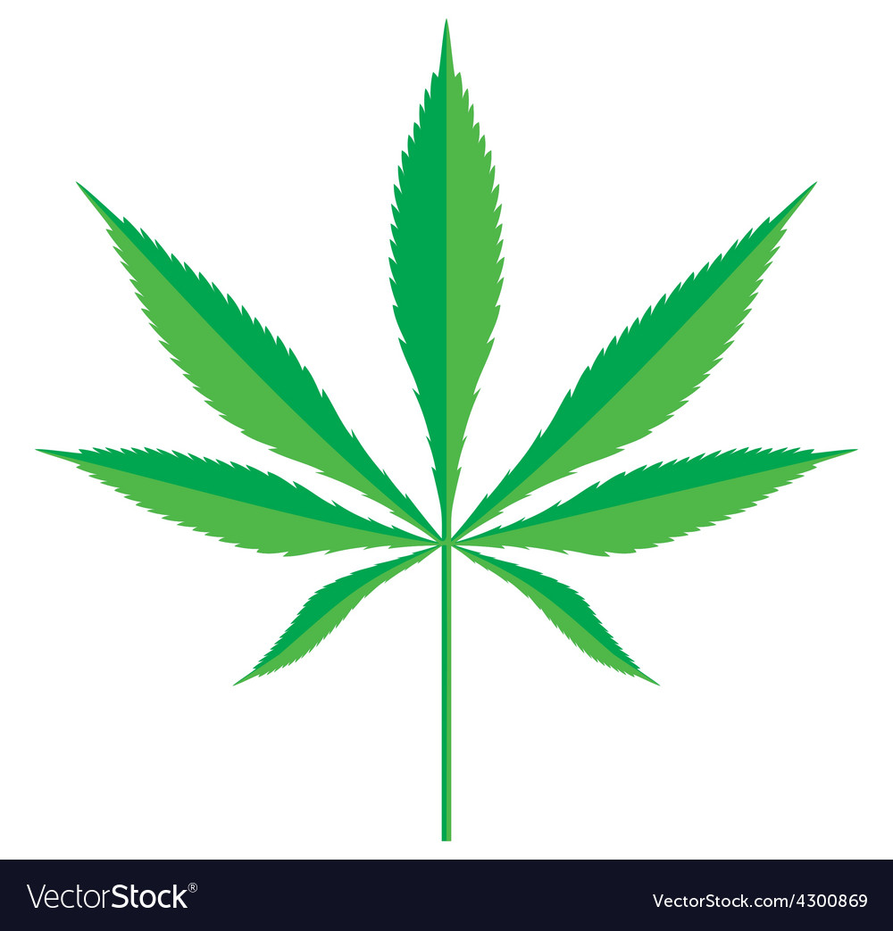 Cannabis leaf2 resize vector | Price: 1 Credit (USD $1)