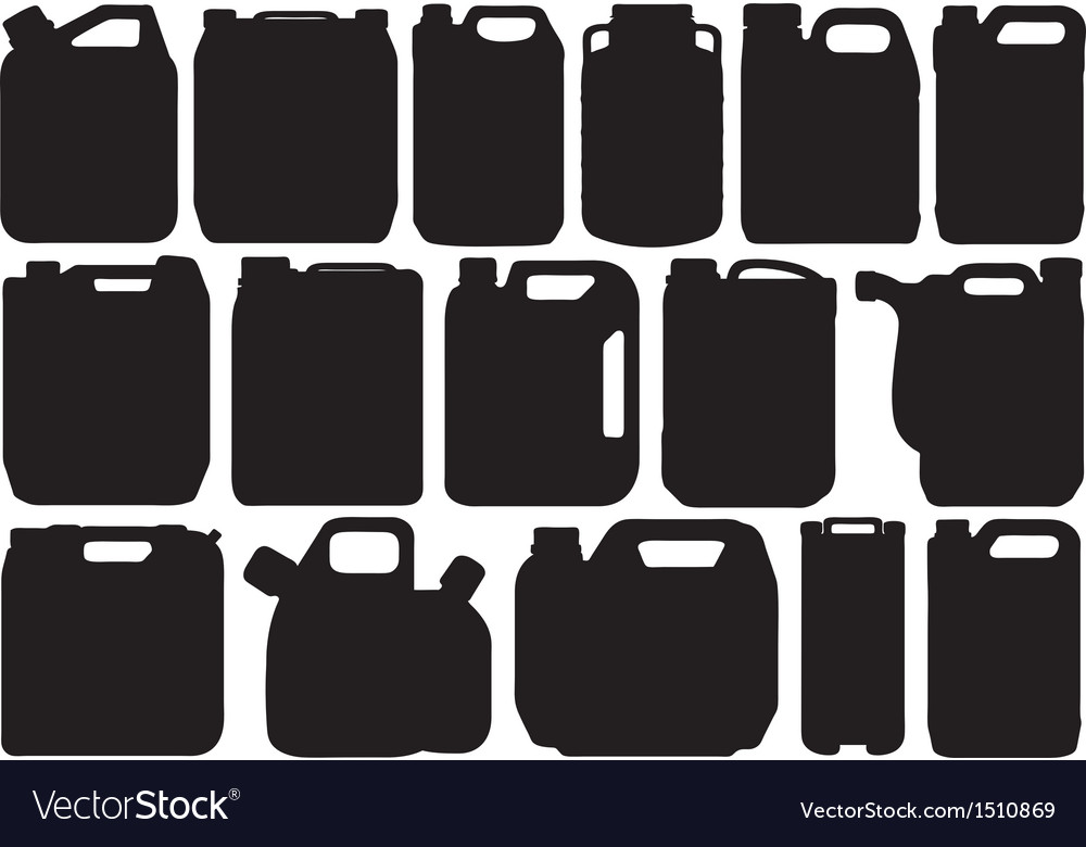 Different types of canisters vector | Price: 1 Credit (USD $1)