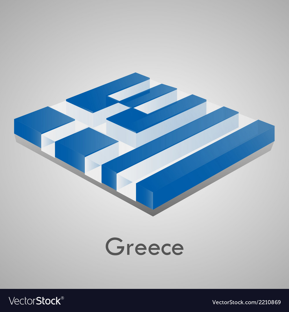 European flags set - greece vector | Price: 1 Credit (USD $1)