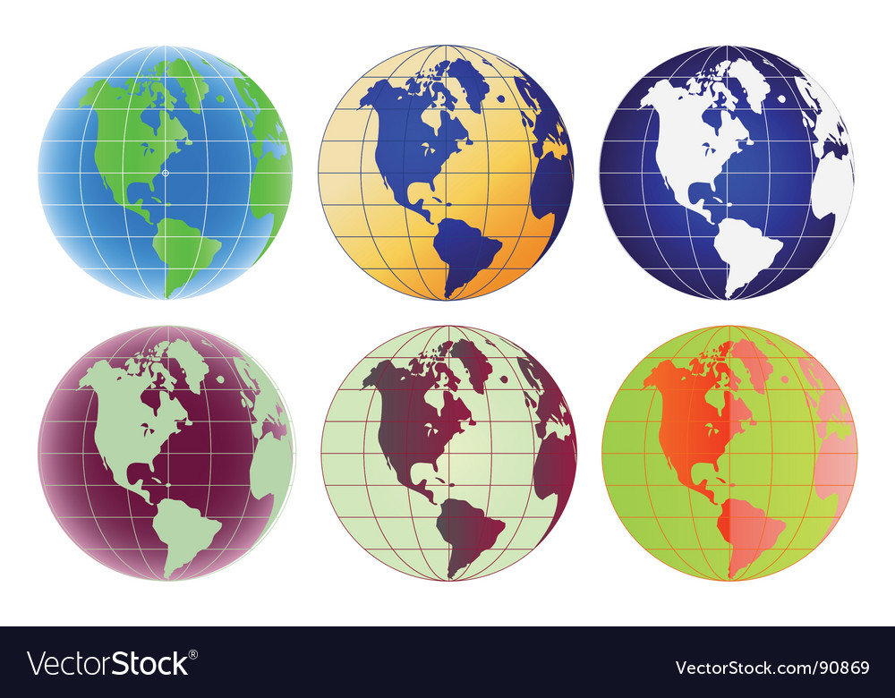 Globe north america and latin america vector | Price: 1 Credit (USD $1)