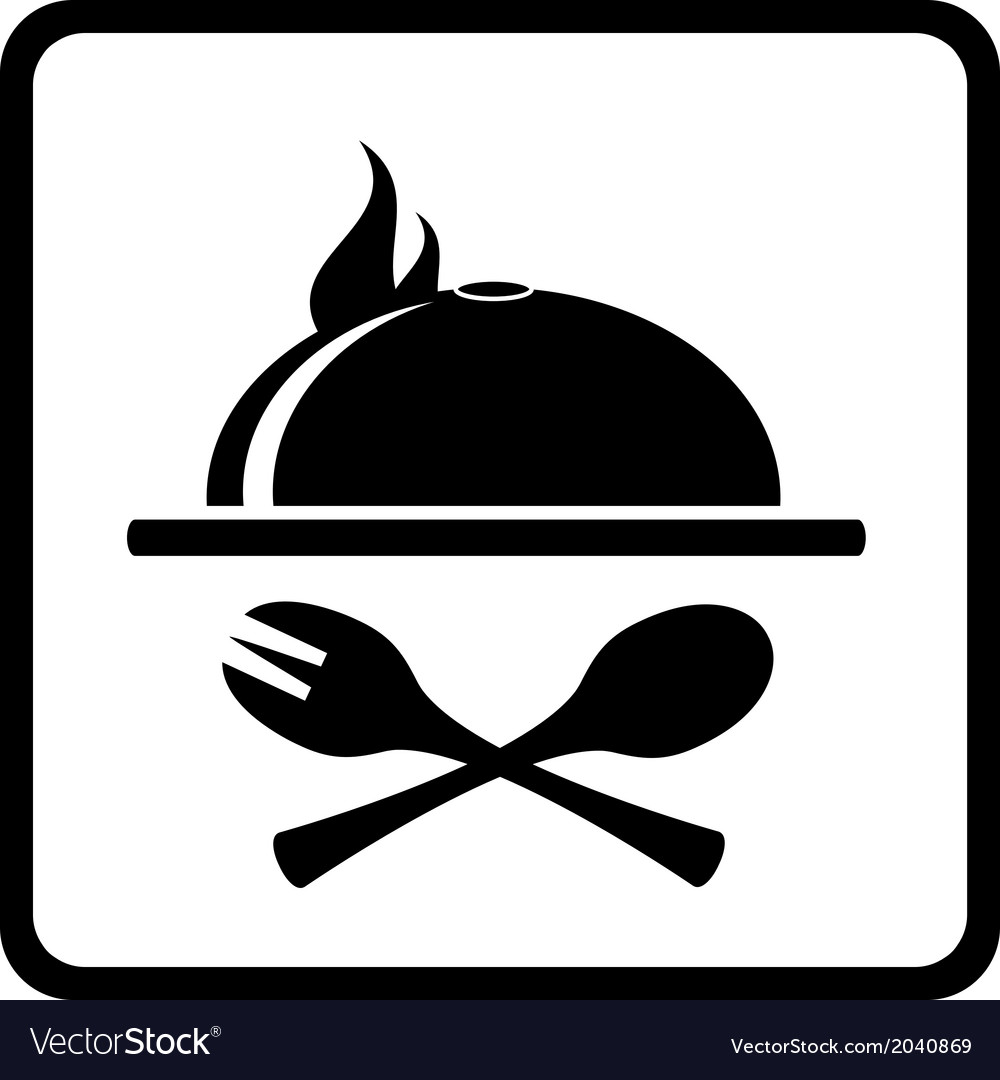 Icon with dish and kitchen utensil vector | Price: 1 Credit (USD $1)