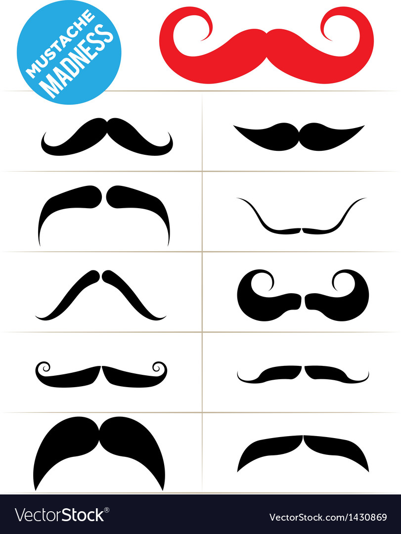 Mustache madness vector | Price: 1 Credit (USD $1)