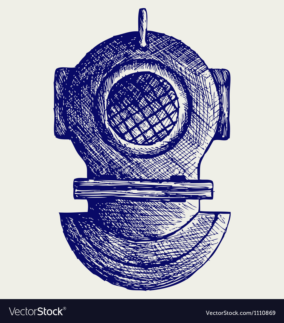 Old diving helmet vector | Price: 1 Credit (USD $1)