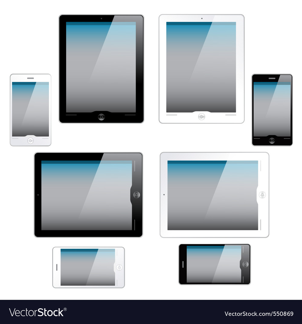 Portable screens vector | Price: 1 Credit (USD $1)