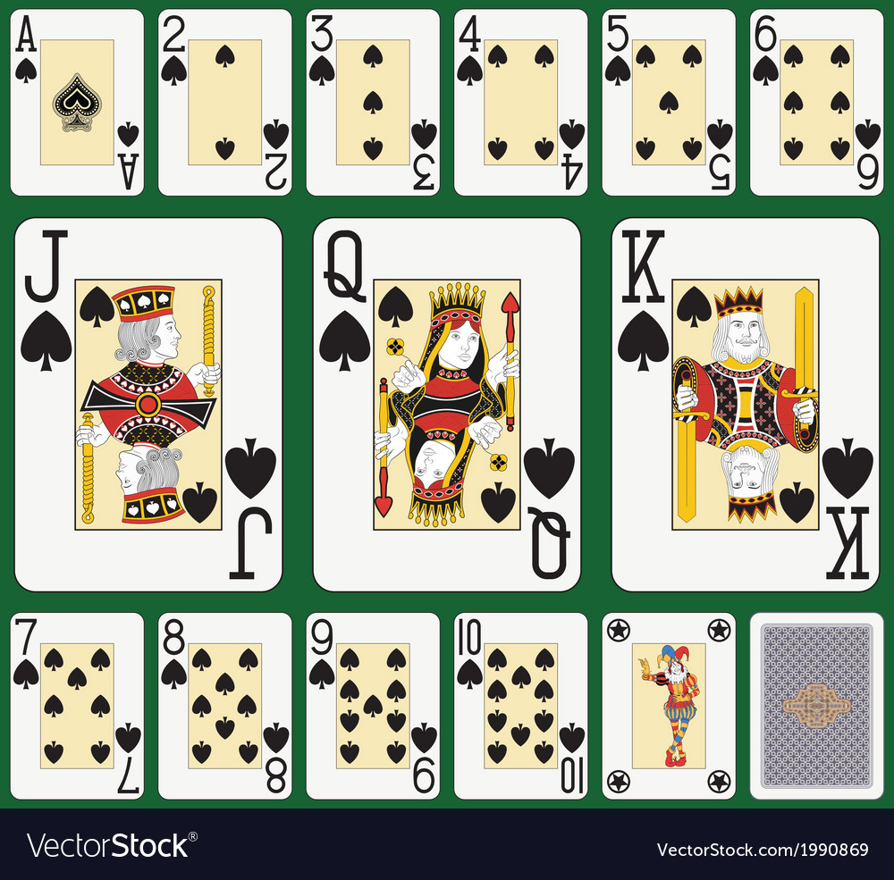 Spade blackjack suit large figures vector | Price: 1 Credit (USD $1)