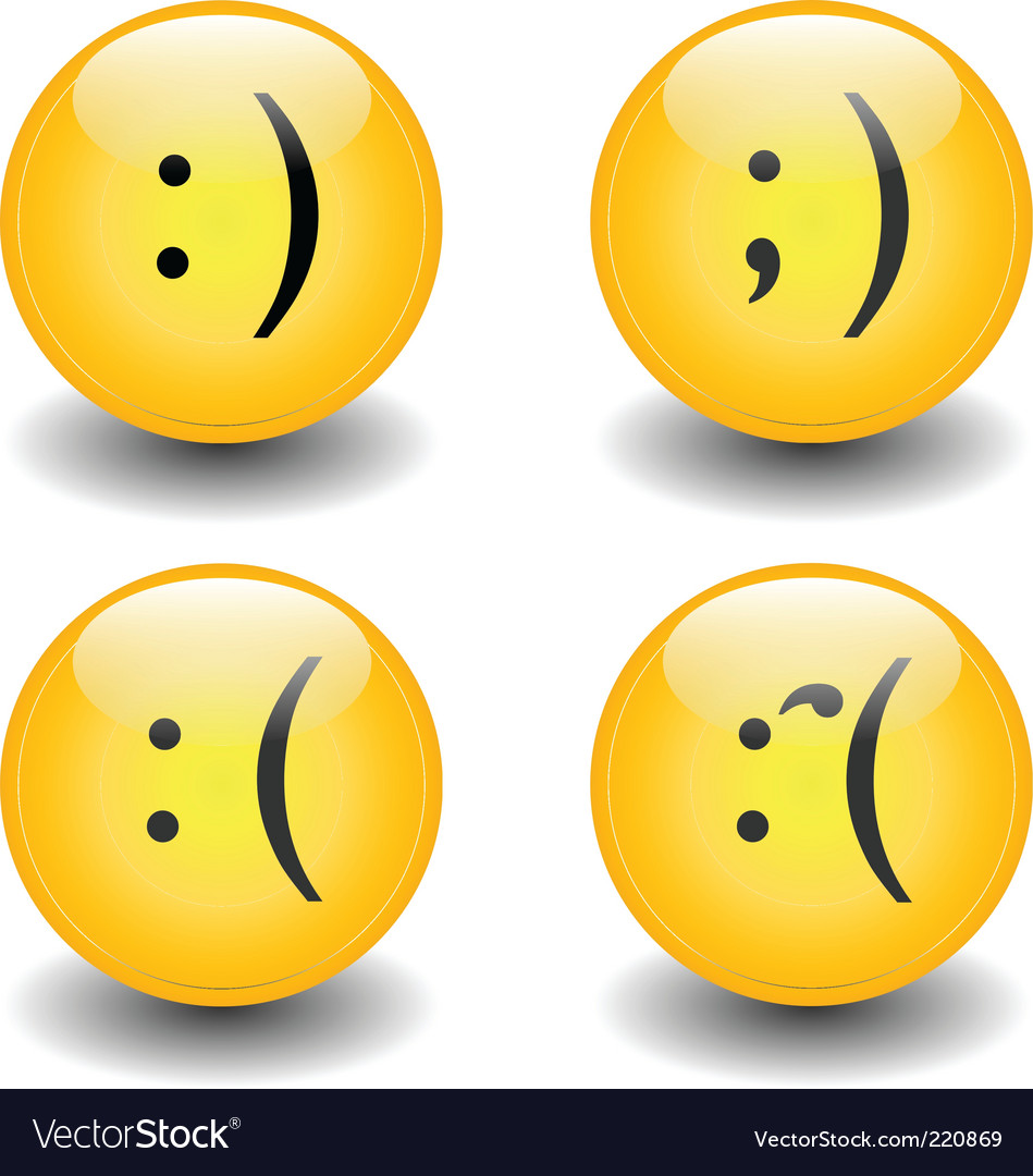 Txt smileys happy and sad vector | Price: 1 Credit (USD $1)
