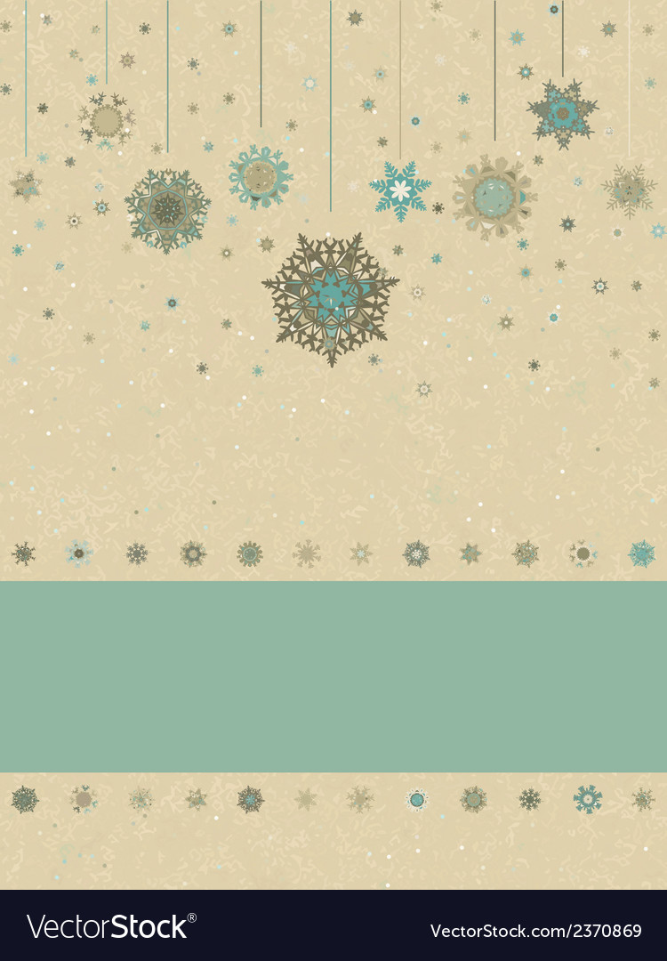 Vintage christmas card eps 8 vector | Price: 1 Credit (USD $1)