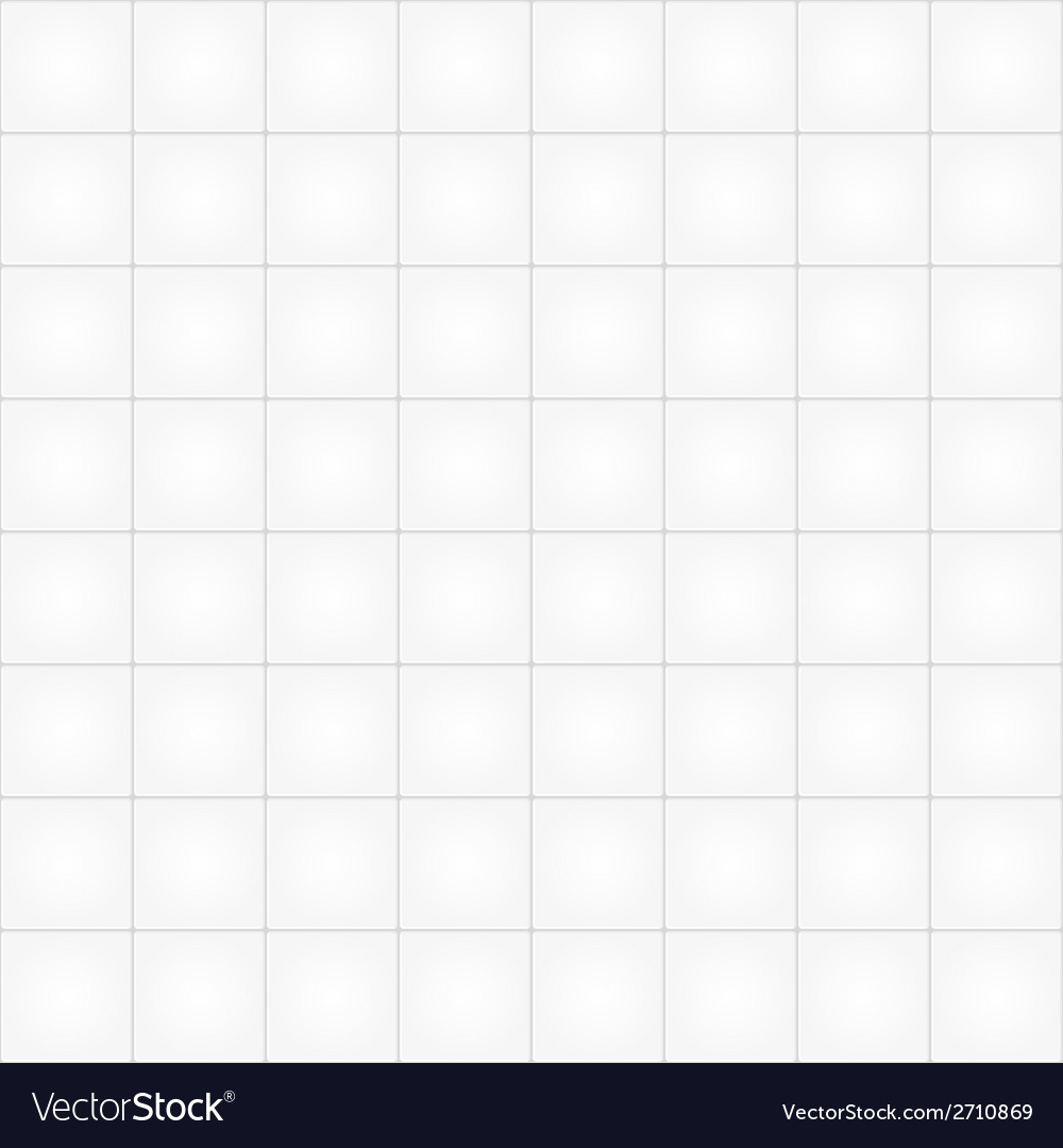 White tile seamless pattern background vector | Price: 1 Credit (USD $1)